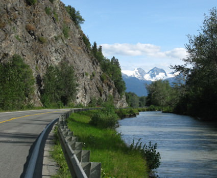 Cycling through Chilkat Eagle Preserve