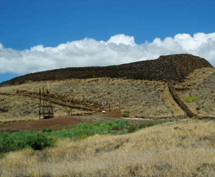 Historic Hawaiian heiau - temple