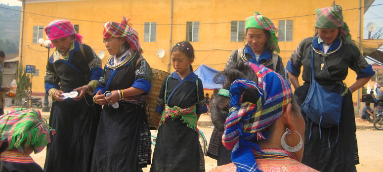 hilltribe ladies in public market