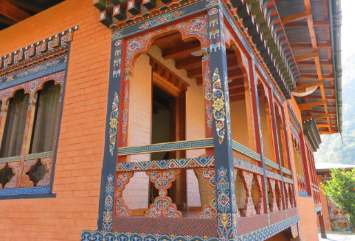Typical Bhutan architecture
