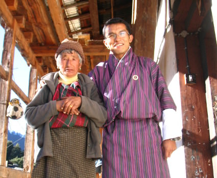 Bhutan Manager Tashi at family farm