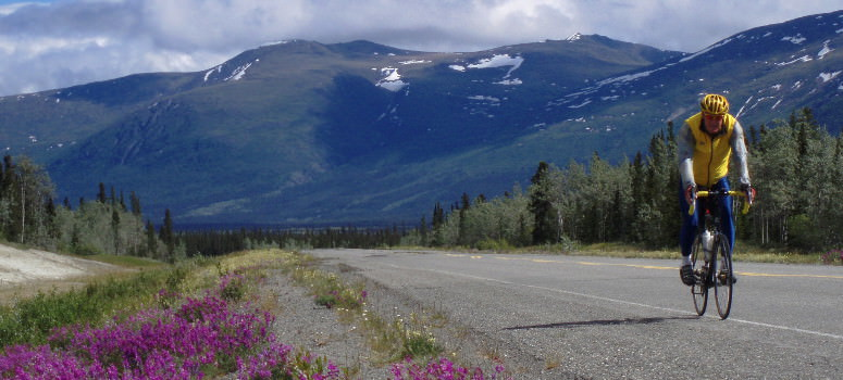 cycling along the Alaska highway