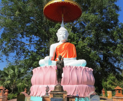 Buddha image along cycling holiday route