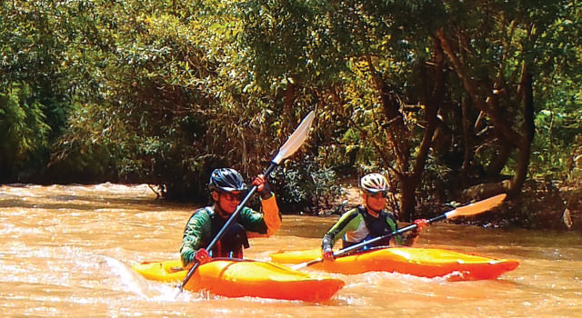 canoeing the rivers of Chiang Mai