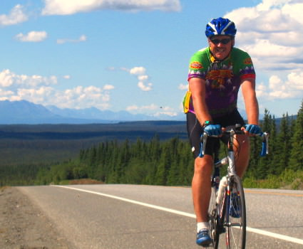 Biking through the vast wilderness to Fairbanks