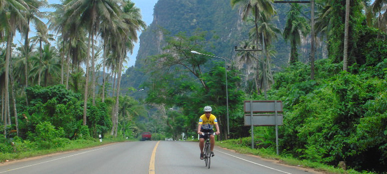 Cycling through Thailand's karst mountains