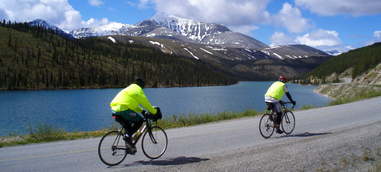 bike touring in Alaska