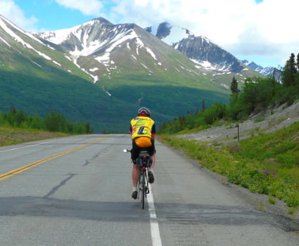 Scenic view enjoyed while bike touring to Denali National Park