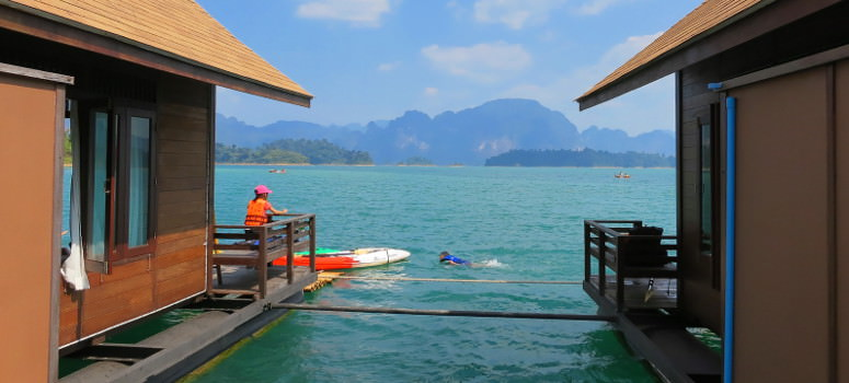 Floating hotel on Khao Sok National Park
