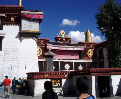 Gaden Monastery at the end to today's cycling tour