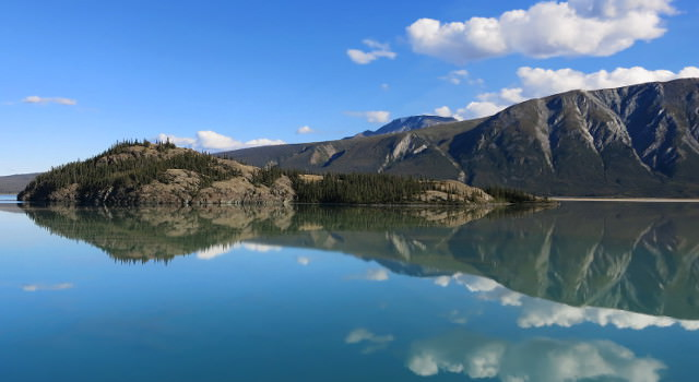 Kluane Lake along bike route