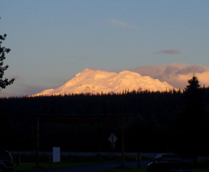 Mt Drum at sunset