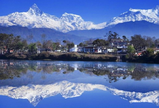 Annapurna Range across the lake