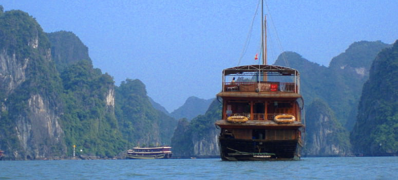 Our private junk in Ha Long Bay