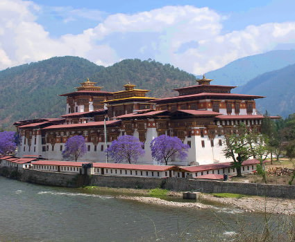 Punakha Dzong former capital of Bhutan