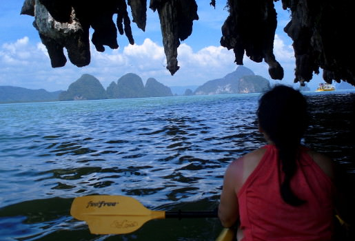Sea kayaking in Phang Nga Bay