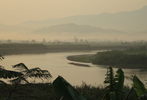 Morning mist over Mae Kok River