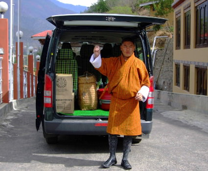 Support van in Bhutan