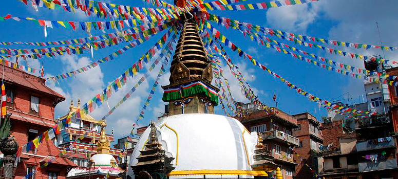 Swayambhunath Temple. ending of our Nepal Bike Tour