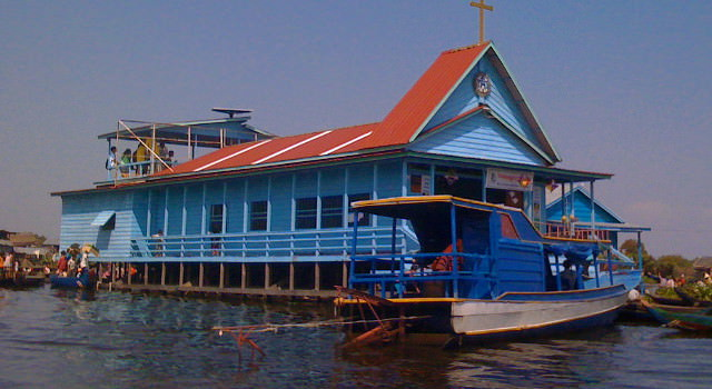 Floating church on Tonle Sap Lake
