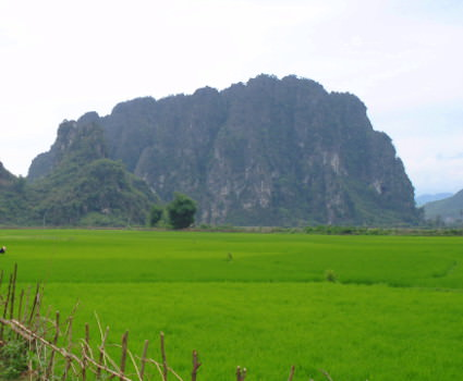 Karst outcroppings in ninh Binh