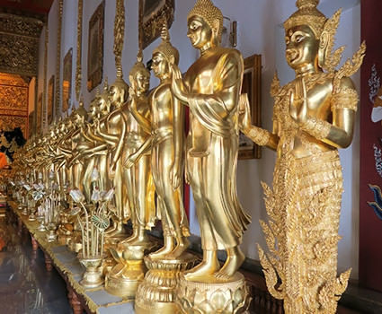 Golden Buddhas at Wat Baan Den