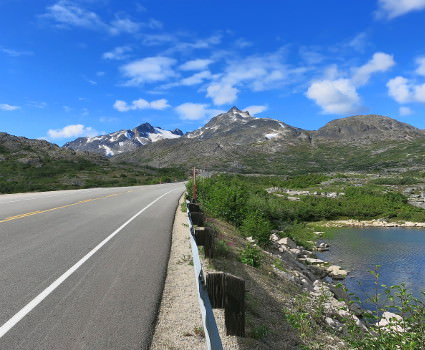 Coastal Range ridden through on Klondike cycling holiday
