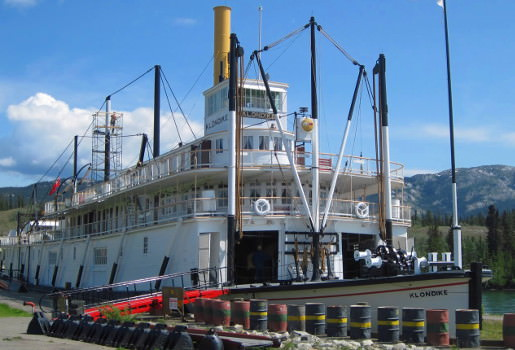 Historic steamer in downtown Whitehorse