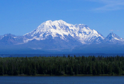 Mt Drum as seen during our Alaska bike tour